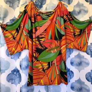 Trina Turk top with butterfly sleeves